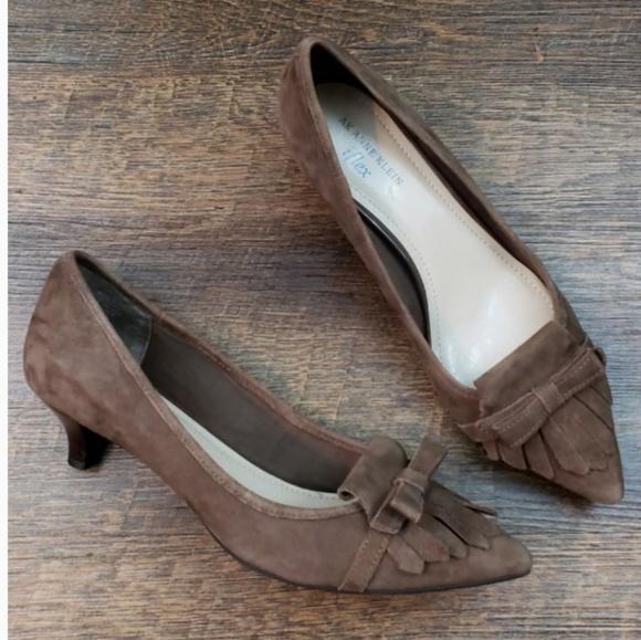 39cf7a898611 Anne Klein Shoes - AK Anne Klein iflex Malik Suede Bow Kitten Heels